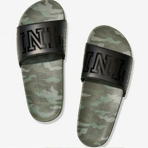 Only worn once Victoria secret pink camo slides